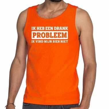 Ik heb een drankprobleem tanktop / mouwloos shirt oranje heren