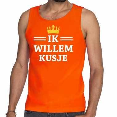 Ik willem kusje mouwloos shirt / tanktop oranje heren