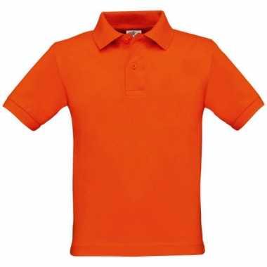 Jongens polo oranje
