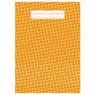 Kantoor schrift a4 gelinieerd oranje