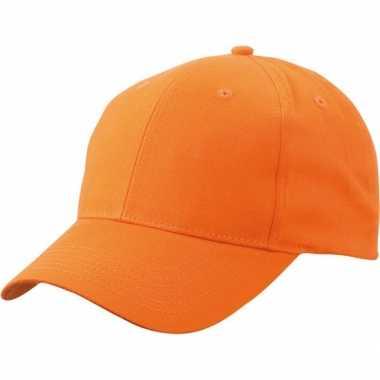Katoenen baseball caps oranje