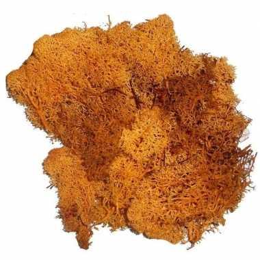 Kerststukje/herfststukje mos oranje 50 gram