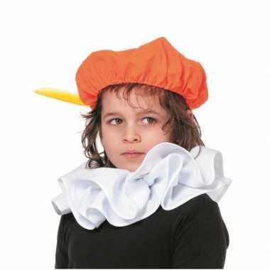 Kids pieten baretje oranje