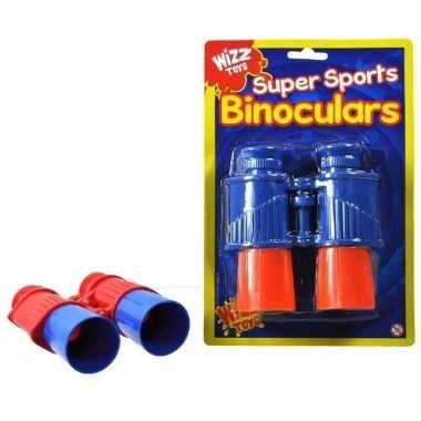 Kinder verrekijker blauw/oranje 13 cm