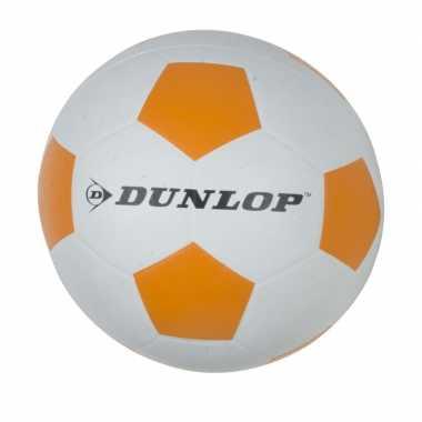 Kinder voetbal proffesioneel maat 5 wit/oranje