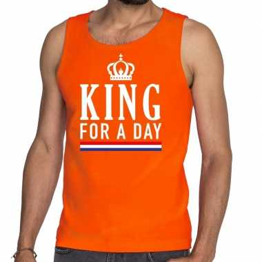 King for a day tanktop / mouwloos shirt oranje heren