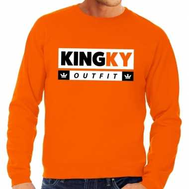 Kingky outfit sweater oranje heren
