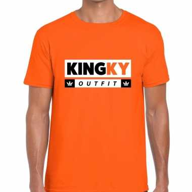 Kingky outfit t-shirt oranje heren