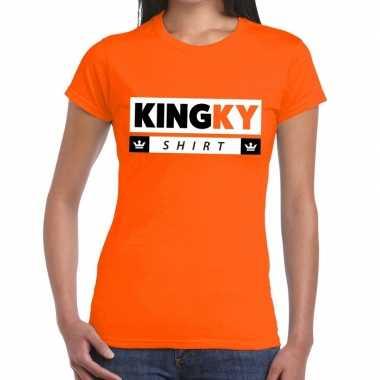 Kingky t-shirt oranje dames