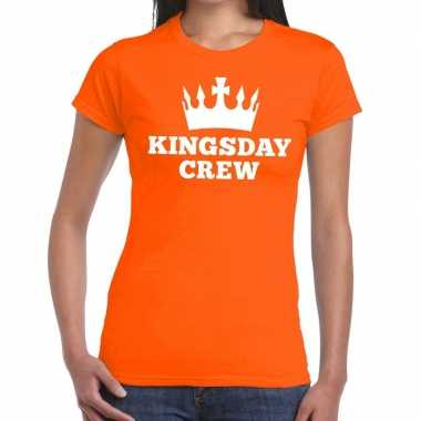 Kingsday crew t-shirt oranje dames
