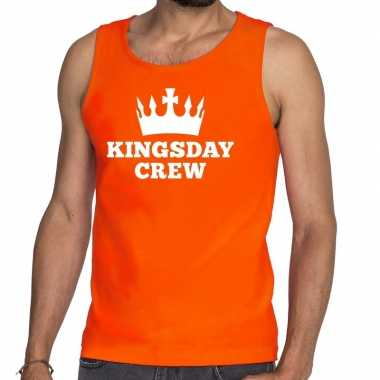 Kingsday crew tanktop / mouwloos shirt oranje heren