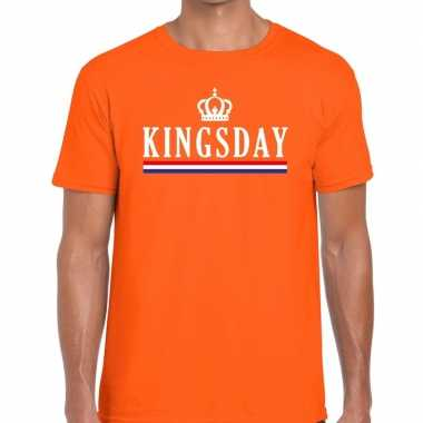 Kingsday hollandse vlag t-shirt oranje heren