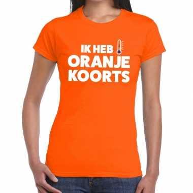 Koningsdag fun t-shirt ik heb oranjekoorts dames
