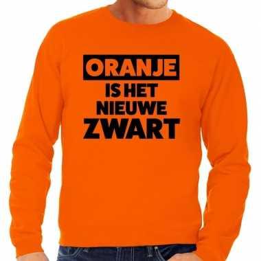 Koningsdag fun trui oranje is het nieuwe zwart oranje heren