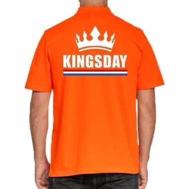 Koningsdag polo t-shirt oranje kingsday voor heren