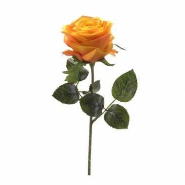 Kunstrozen simone geel/oranje 45 cm