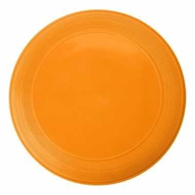 Kunststof oranje frisbees 21 cm