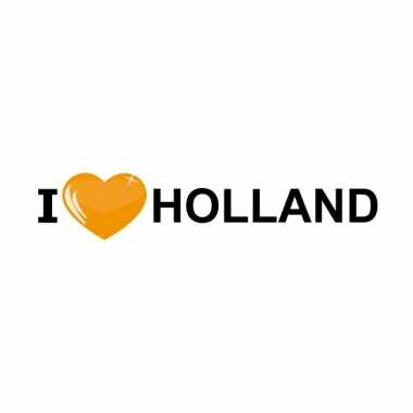 Landen sticker i love holland oranje