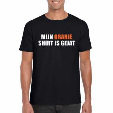 Mijn oranje t-shirt is gejat t-shirt zwart heren