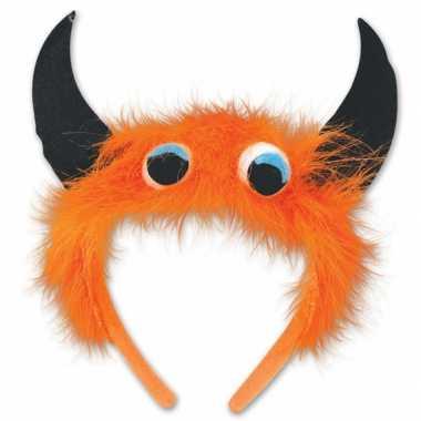 Monster verkleed diadeem oranje zwart