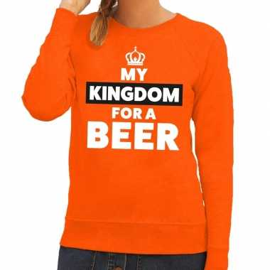 My kingdom for a beer sweater oranje dames