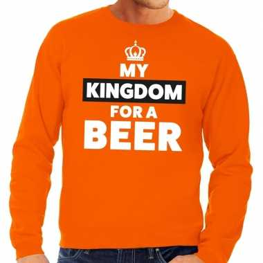 My kingdom for a beer sweater oranje heren