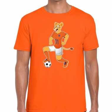 Nederlands dames elftal supporter shirt leeuwinnen met bal oranje voo