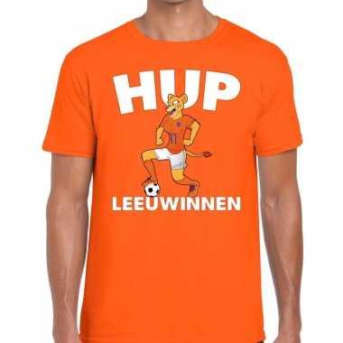 Nederlands elftal supporter shirt hup leeuwinnen oranje voor heren