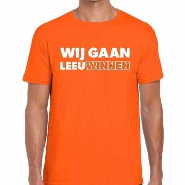 Nederlands elftal supporter shirt wij gaan leeuwinnen oranje voor her
