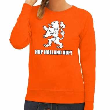 Nederlands elftal supporter sweater hup holland hup oranje voor dames