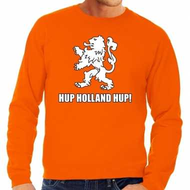 Nederlands elftal supporter sweater hup holland hup oranje voor heren