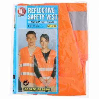 Neon oranje veiligheidsvest voor volwassenen