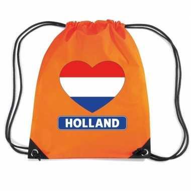 Nylon rugzak holland hart vlag oranje
