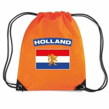Nylon rugzak holland vlag oranje