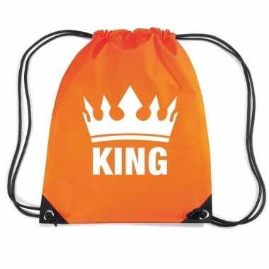 Nylon rugzak king oranje