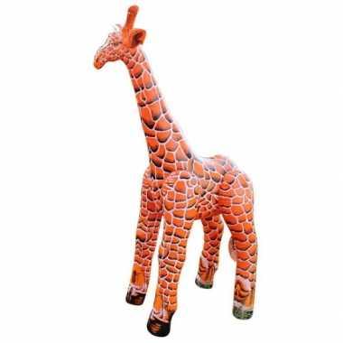 Opblaas giraffe oranje 152 cm