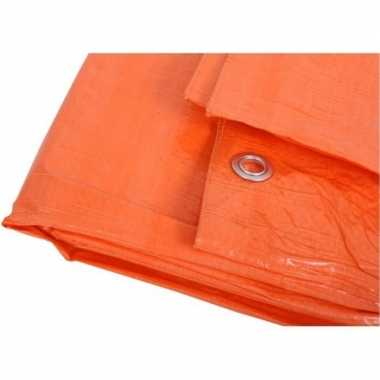 Oranje afdekzeil / dekkleed 4 x 5 m