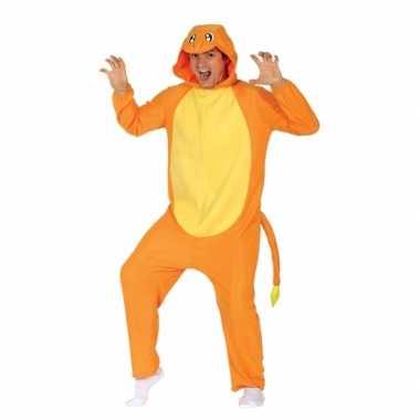 Oranje anime dier onesie