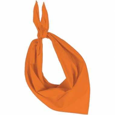 Oranje basic bandana hals zakdoeken sjaals shawls voor volwassenen