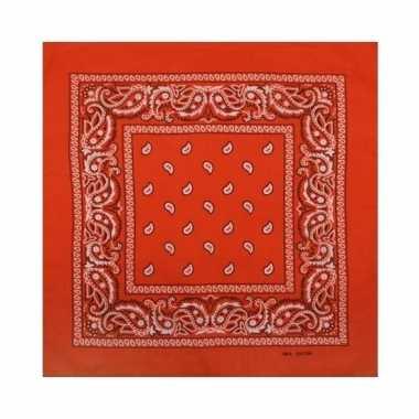 Oranje boeren zakdoek bandana