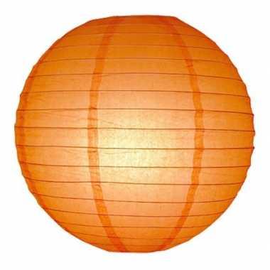 Oranje bol lampion 25 cm