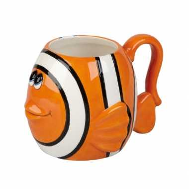 Oranje clownvis koffiemok