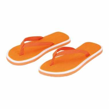 Oranje dames slippers