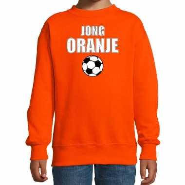 Oranje fan sweater / kleding jong oranje ek/ wk voor kinderen