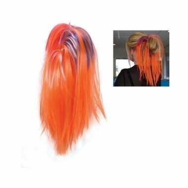 Oranje haarextensions voor dames