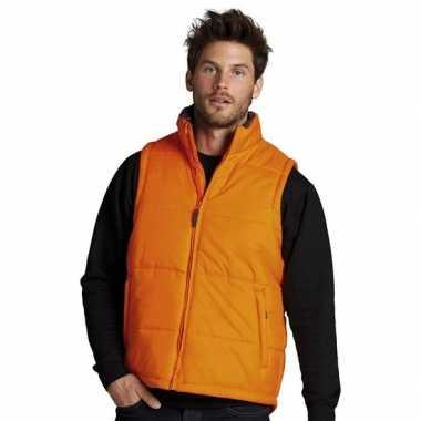 Oranje heren bodywarmers
