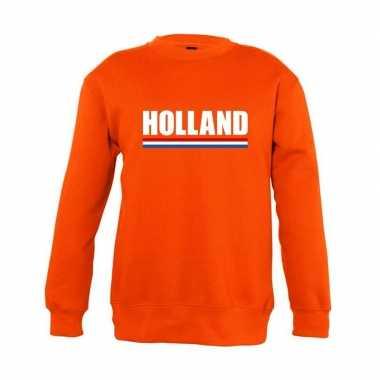 Oranje holland supporter trui jongens en meisjes