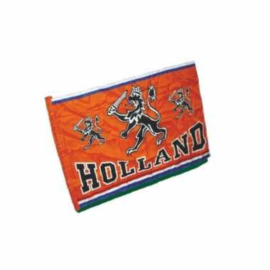 Oranje holland thema vlag van 100 x 150 cm