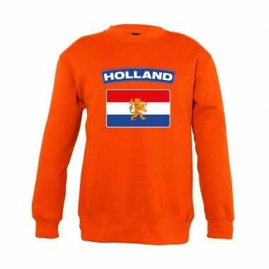 Oranje holland vlag trui jongens en meisjes