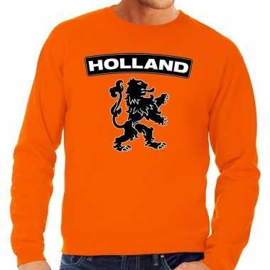 Oranje holland zwarte leeuw trui heren en dames